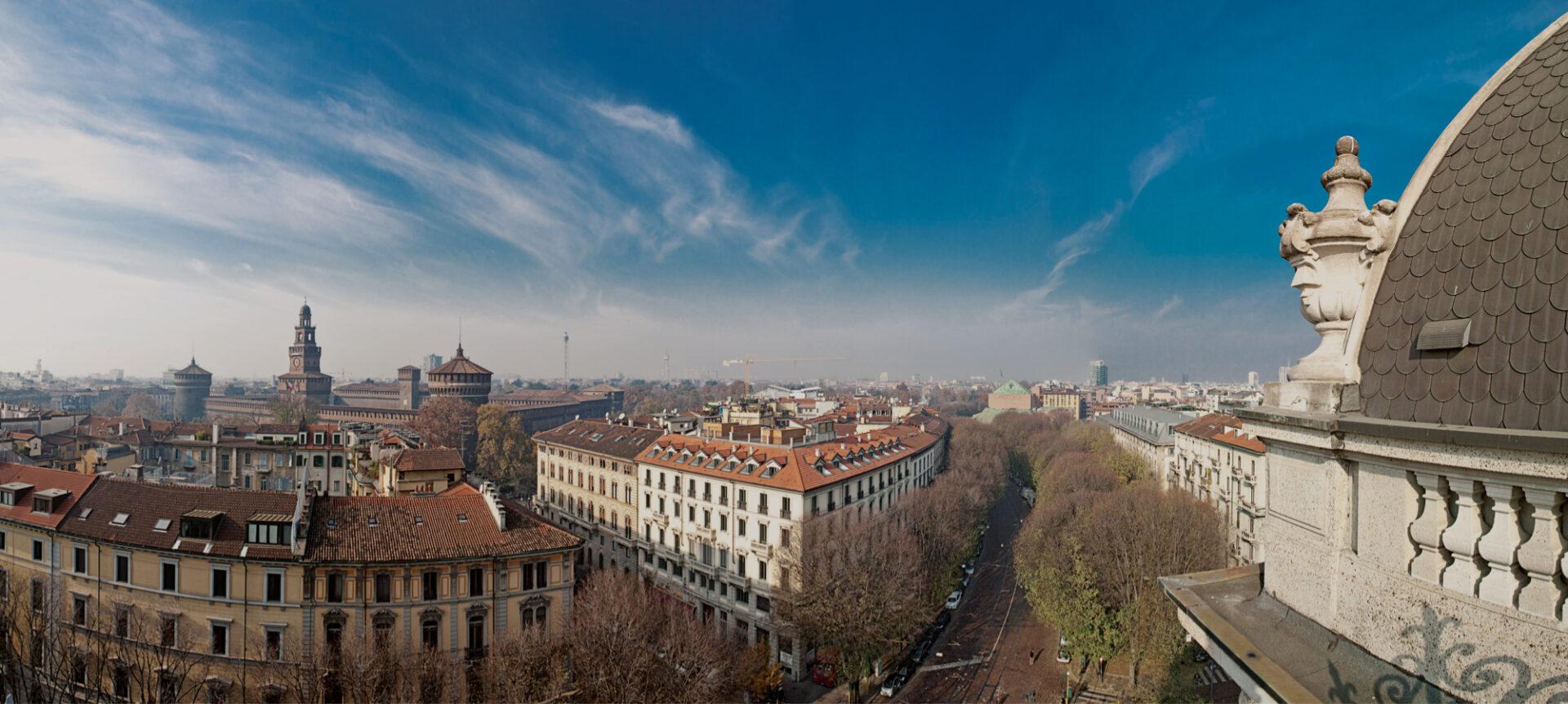 Veduta aerea città di Milano - Cittamoderna